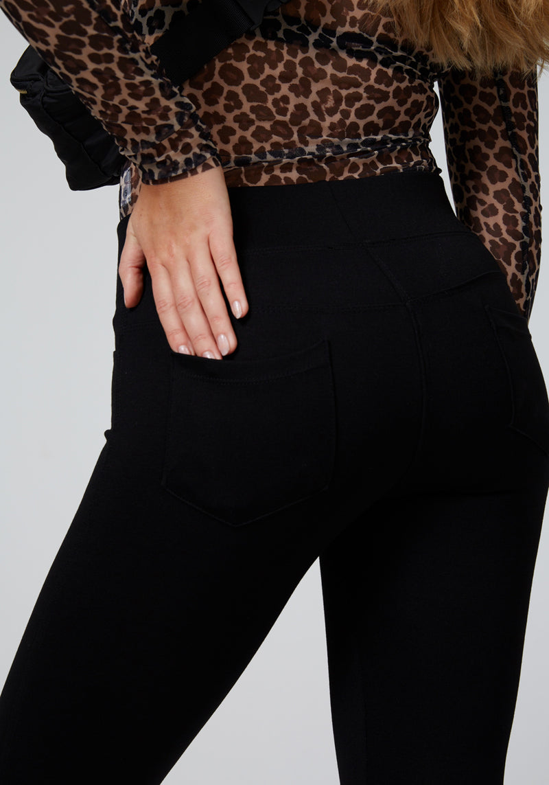 Black Back Pocket High Waisted Leggings