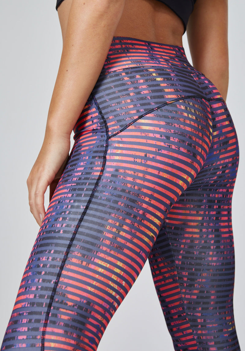 Detail of Bold Print Wide Waistband Sports Leggings
