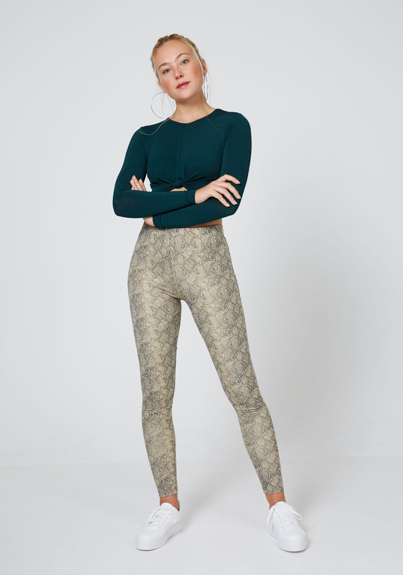 Fasheon High Waisted Snake Leggings