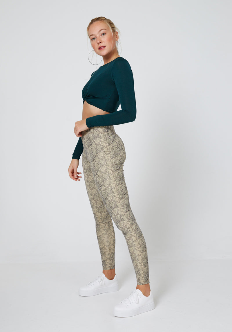 Multi High Waisted Snake Leggings for Women