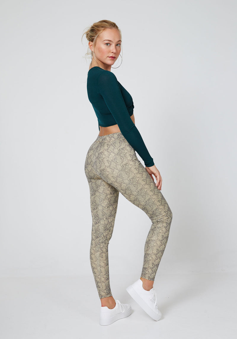 Snake Printed Leggings for Women