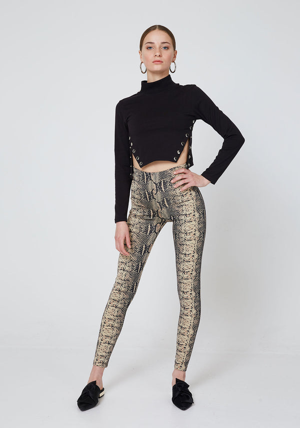 World Of Leggings High Waist Snake Skin Leggings for women