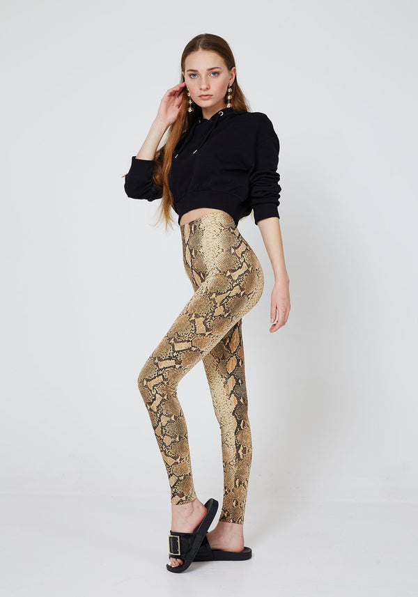 Fasheon Animal Snake Print Leggings for Ladies