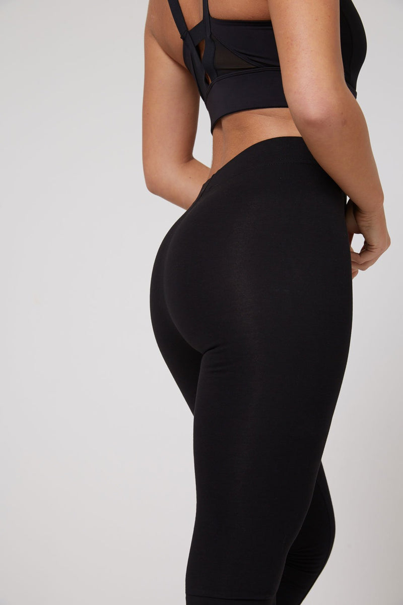 2 Pack - Black Classic High Waisted Leggings