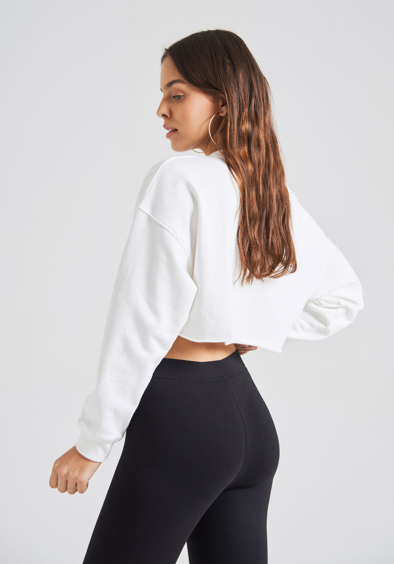 fasheon Black Classic High Waisted Cropped Leggings