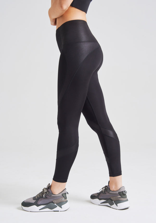 fasheon Black High Waisted Sports Leggings