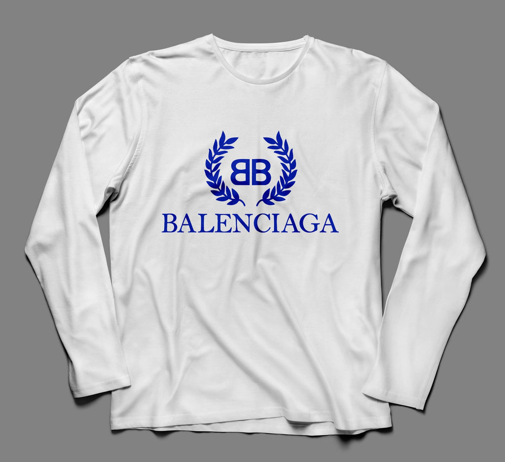 Balenciaga Multicolor Designer Inspired Long Sleeve Tshirt