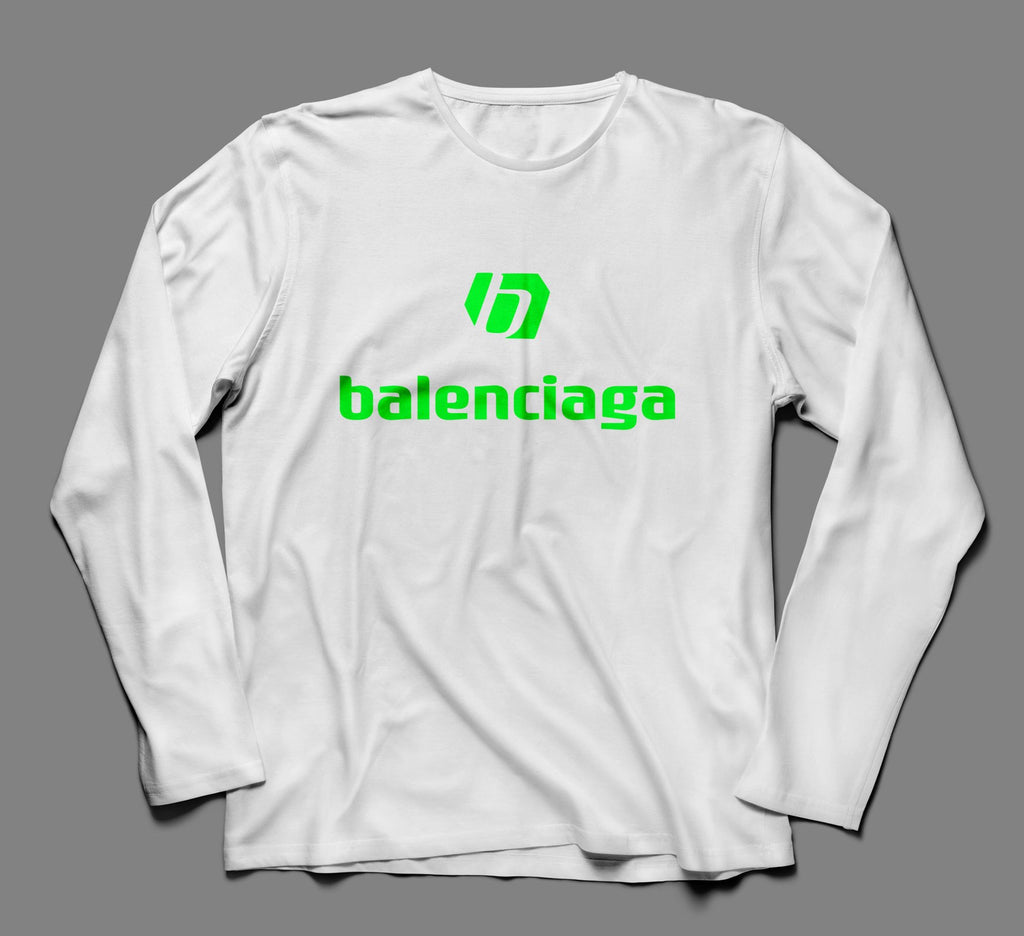 New Balenciaga Multicolor Designer Inspired Long Sleeve Tshirt