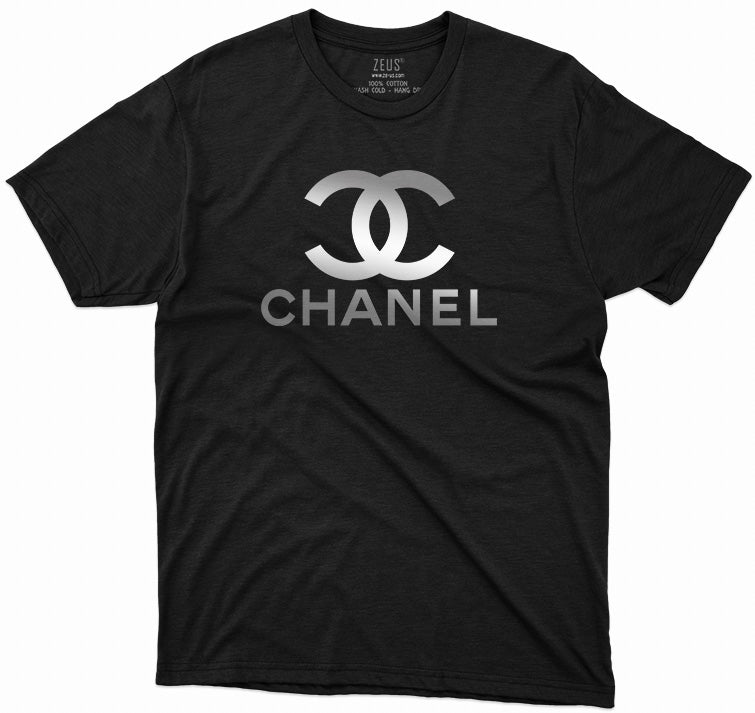Chanel Metallic Designer Inspired T-Shirt