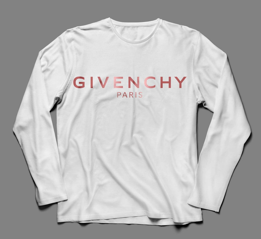 Givenchy Metallic Designer Inspired Long Sleeve Tee