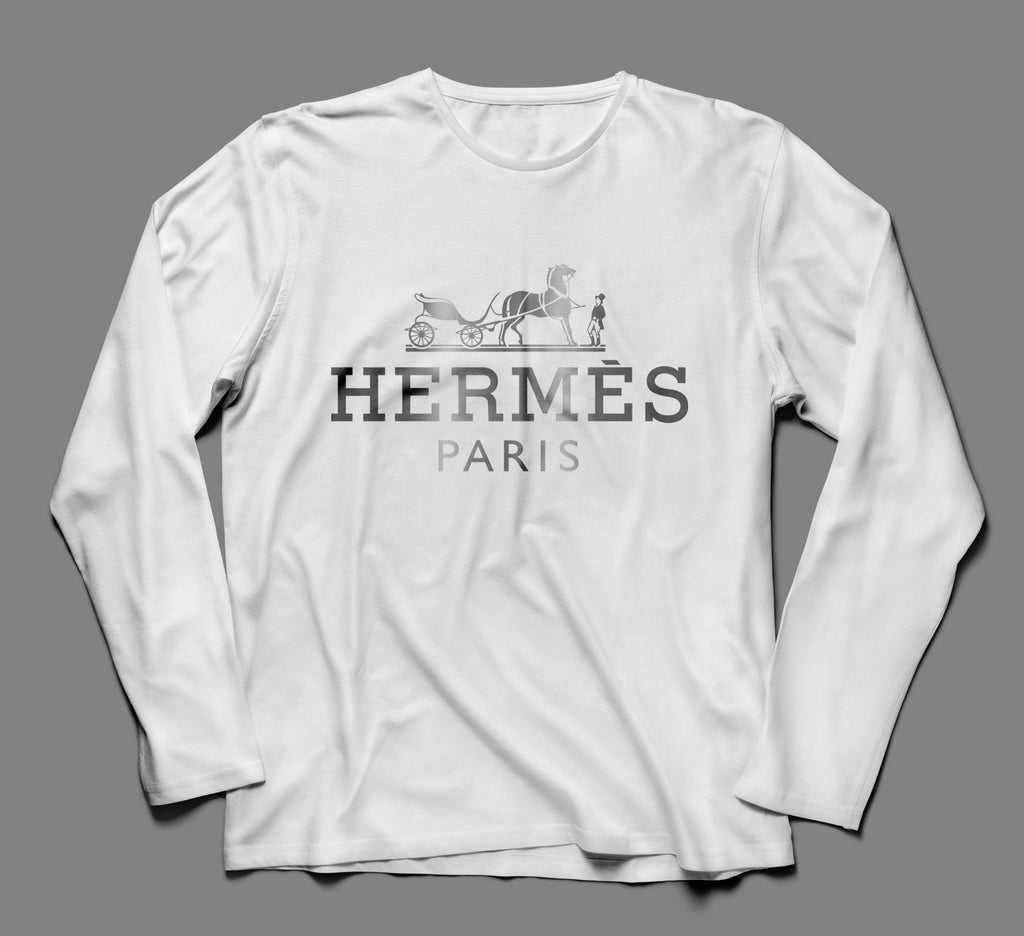 Hermes Metallic Designer Inspired Long Sleeve Tee