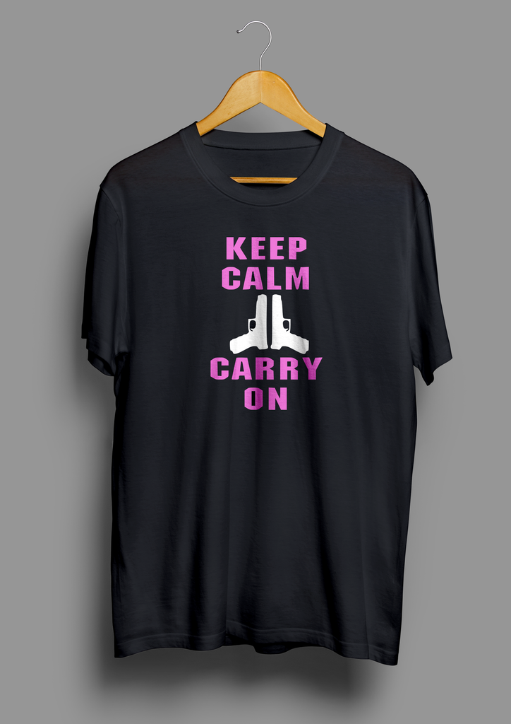 Keep Calm Carry On Gun T-Shirt