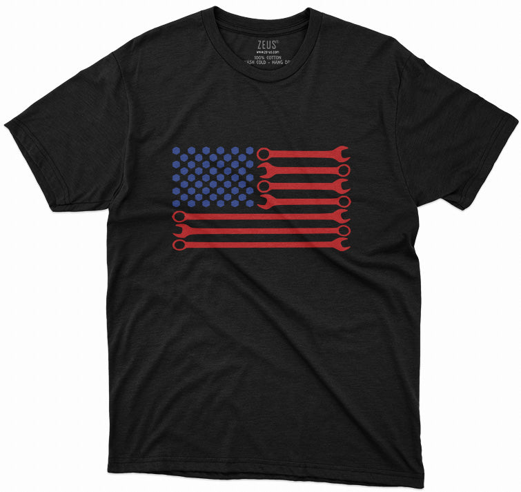 Mechanic USA Flag T-Shirt