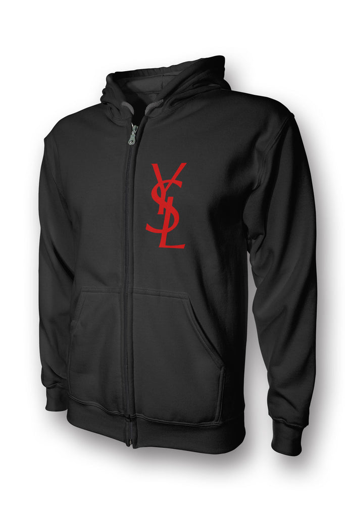 YSL Yves Saint Laurent Designer Inspired Full Zip Hoodie