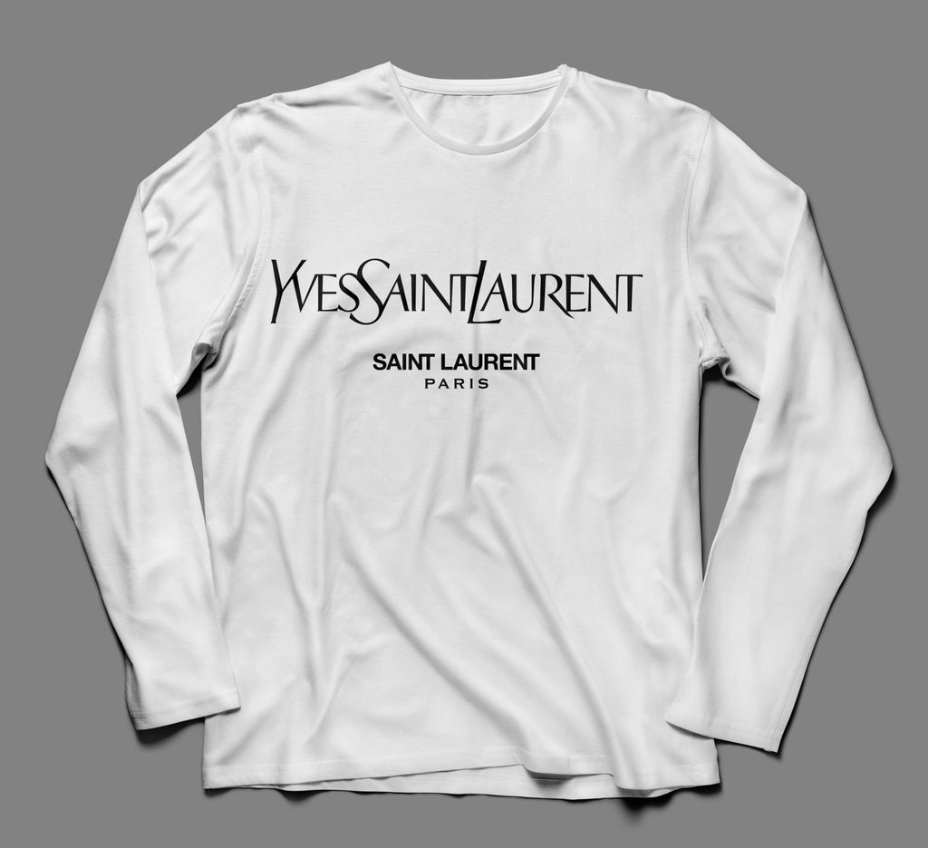 Yves Saint Laurent Paris Multicolor Designer Inspired Long Sleeve Tshirt