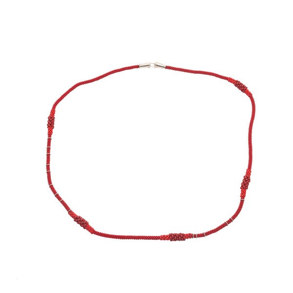 Collar Degrade rojo 1 Mt de Claudia Fajardo