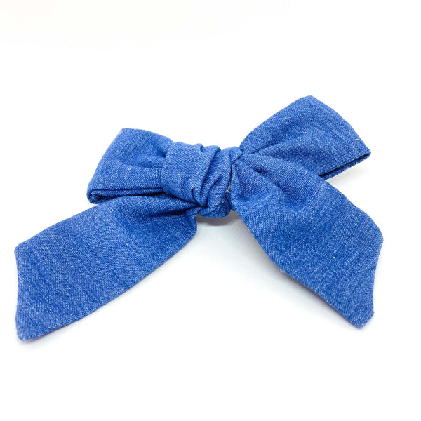 Fabric fashion bow azul de MOÑERIAS