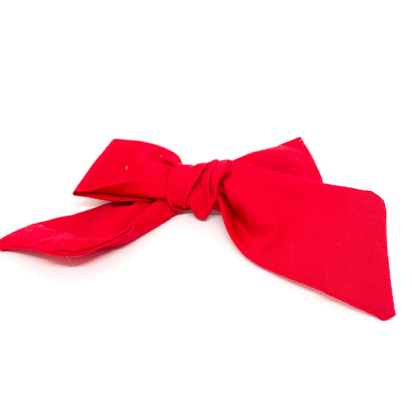 Fabric fashion bow rojo de MOÑERIAS