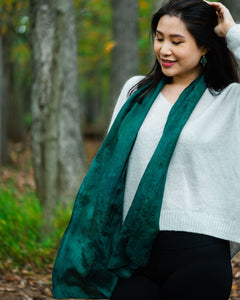 Evergreen Silk Scarf - Dyed to Order