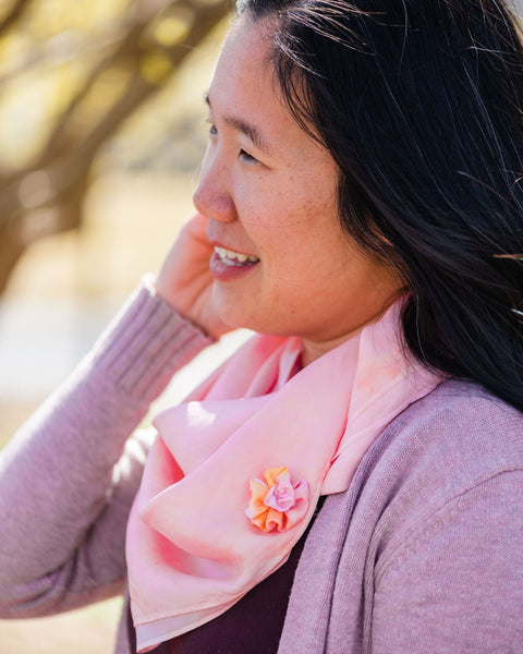 Shell Pink Silk Scarf - Dyed to Order