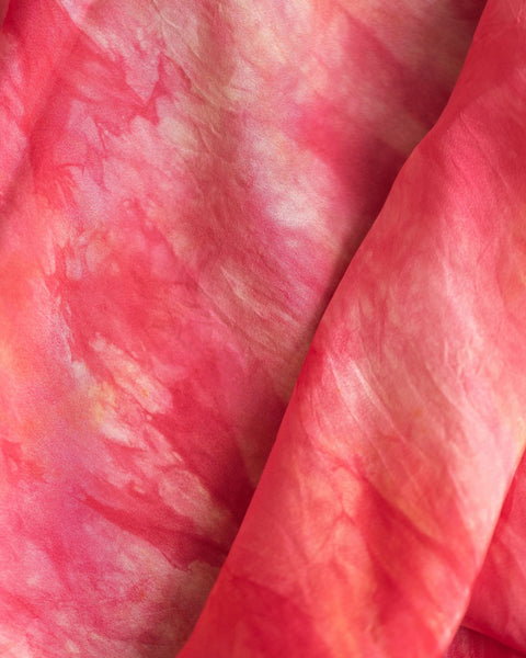 Peach Pink Silk Scarf - Dye to Order