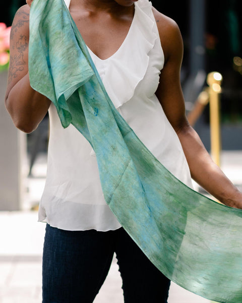 Lagoon Silk Scarf - Dyed to Order
