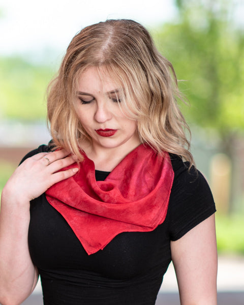 Berry Red Silk Scarf - Dyed to Order