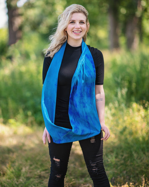 Peacock Silk Scarves - Limited Edition