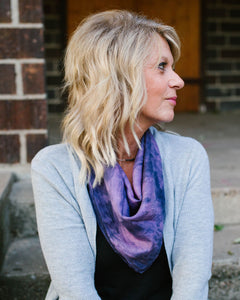 Moody Purple Silk Scarf - Dyed to Order