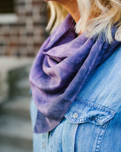 Moody Purple Silk Scarf