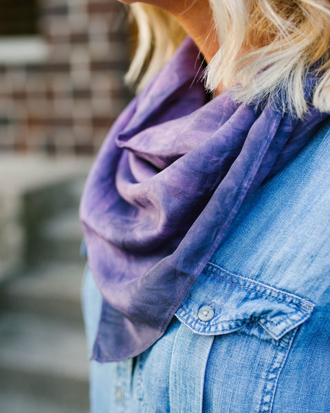 Moody Purple Silk Scarf - Limited Edition