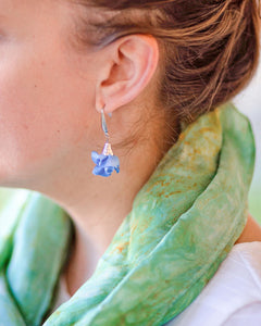 Silk Bloom Earrings - Stainless Steel Double Bloom - RTS