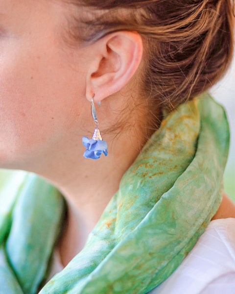 Silk Bloom Earrings - Stainless Steel Double Bloom