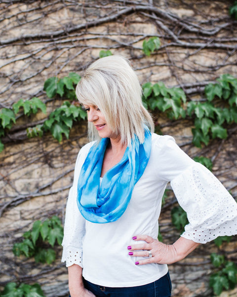 Turquoise Silk Scarf - Dye to Order