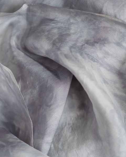 Silver Silk Scarf - Dyed to Order