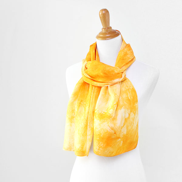 Topaz Yellow Silk Scarves