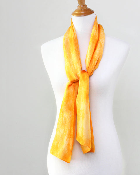 Topaz Yellow Silk Scarf - Dyed to Order