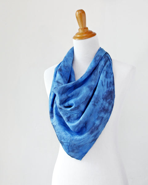 Storm Blue Silk Scarf - Dyed to Order