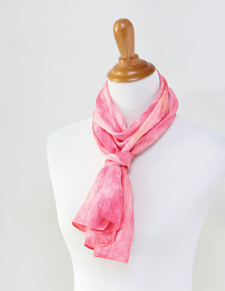 Peony Pink Silk Scarf - Dyed to Order