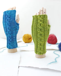 Cable Mitts - Avocado Green - Knit to Order