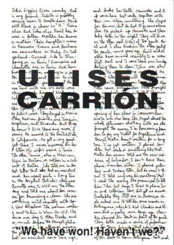 Ulises Carrión  We Have Won! Haven't We?