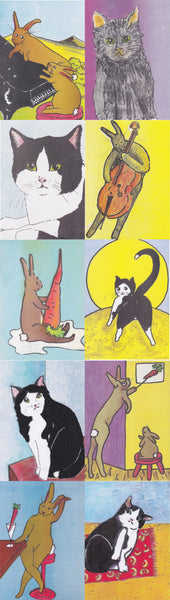 Postcards - Van Egten Cats & Rabbits