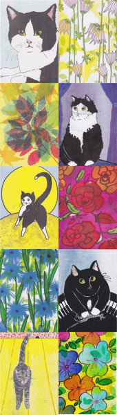 Postcard series - Cats & Flowers 1