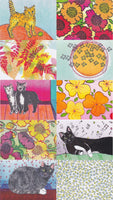 Postcard series - Cats & Flowers 2