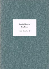Little Critic Pamphlet No.12  Five Poems