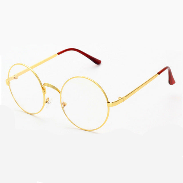 Gold Round Glasses Clear