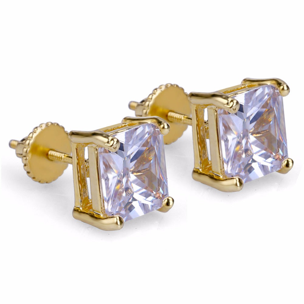 Iced out Claw Setting Cubic earring