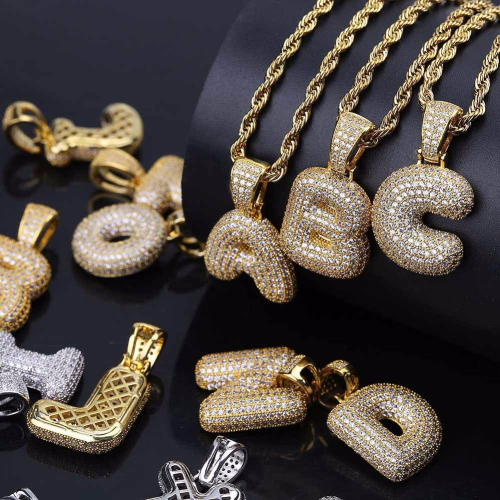 Iced out bubble letters