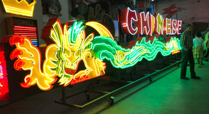 Saved from the Junk Yard... Grauman's Chinese Theater Dragon Neon Sign Restoration