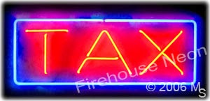 Tax Neon Signs for Year End